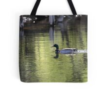 Duck Water Scene Tote Bag