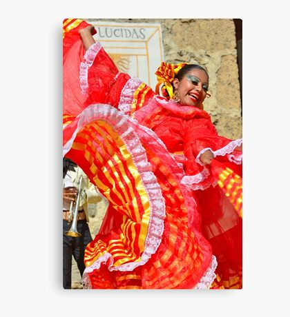 Mexican Dancer Canvas Print