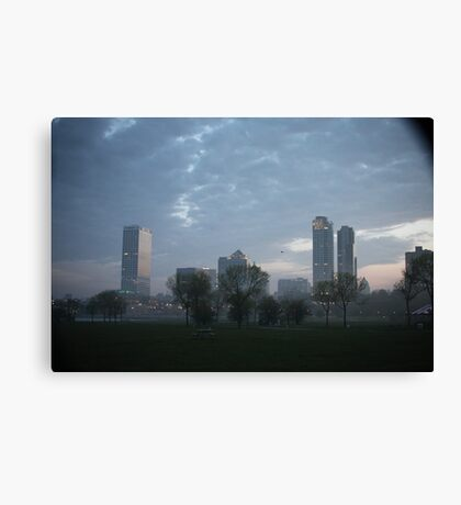 Milwaukee Cityscape with Clouds Canvas Print