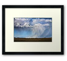 Snow shower approaching Framed Print