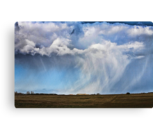 Snow shower approaching Canvas Print