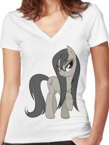 octavia flipped Women's Fitted V-Neck T-Shirt