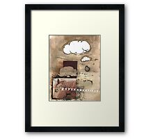the earth shook below his feet Framed Print