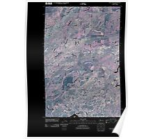 USGS Topo Map Washington State WA Lance Hills 20110503 TM Inverted Poster