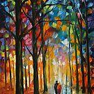 DATE IN THE PARK - LEONID AFREMOV by Leonid  Afremov