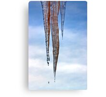 Dripping Icicles Canvas Print