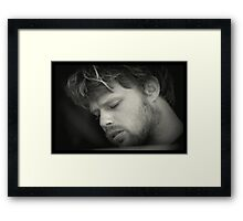 Creativity in Contemplation - Lower Trestles, CA Framed Print