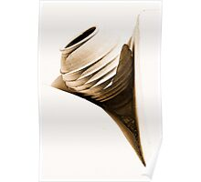 abstract greek urn on white Poster