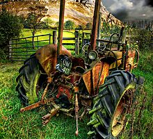 tractor below the eglwysegs by meirionmatthias