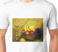 FRUIT AND CANDLE STILL LIFE Unisex T-Shirt
