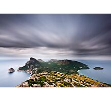 Cloudy Cap Formentor Photographic Print