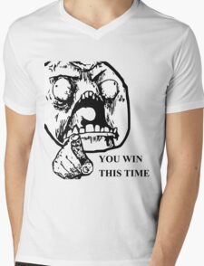 YOU WIN THIS TIME TROLL Mens V-Neck T-Shirt