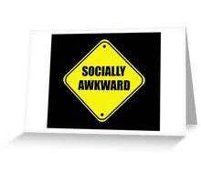 Funny Socially Awkward Shirt Greeting Card