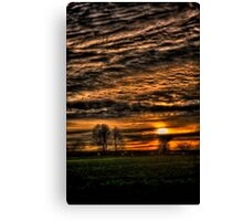 Sunset over Williow Park Jan 2012 Canvas Print