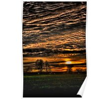 Sunset over Williow Park Jan 2012 Poster