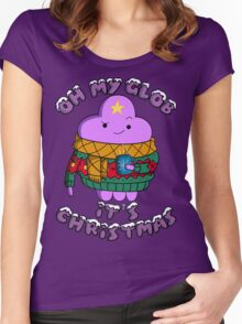 Lumpy Space Princess - Oh My Glob It's Christmas Women's Fitted Scoop T-Shirt