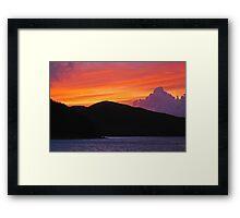 St John Sunset 2 Framed Print
