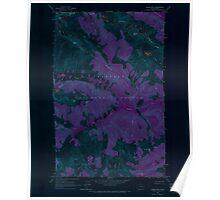 USGS Topo Map Washington State WA Goode Mtn 241354 1963 24000 Inverted Poster