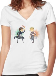 The Worlds Cutest Consulting Detective Women's Fitted V-Neck T-Shirt