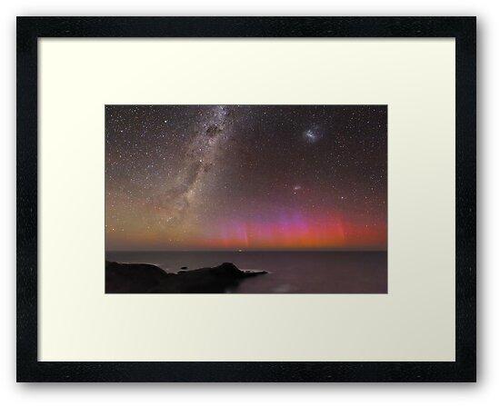 Red Aurora Over Australia  by Alex Cherney