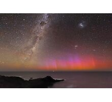 Red Aurora Over Australia  Photographic Print