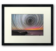 Aurora Star Trails Framed Print