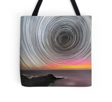 Aurora Star Trails Tote Bag