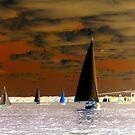Chocolate Sails on a Mocha Tea Sea - Invert Photography Art by Jane Neill-Hancock