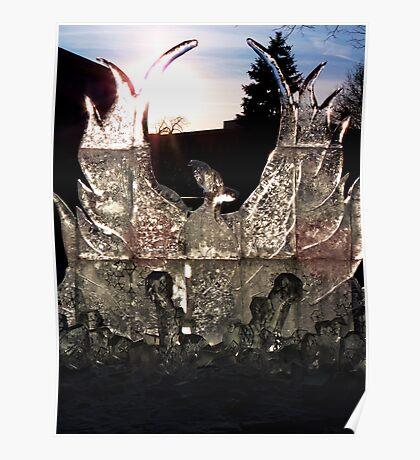 Phoenix in Ice Poster