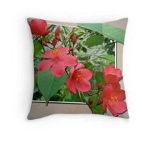 Exuberant Red Throw Pillow