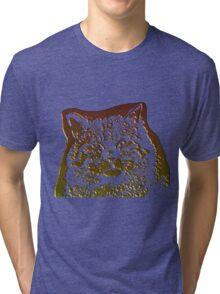 wild cat, 3d Tri-blend T-Shirt