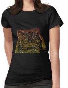 wild cat, 3d Womens Fitted T-Shirt