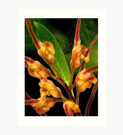 Floral Contours Art Print
