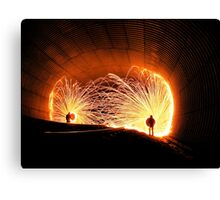 Stopping All Stations Canvas Print