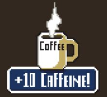 Large Coffee Power Up T-Shirt