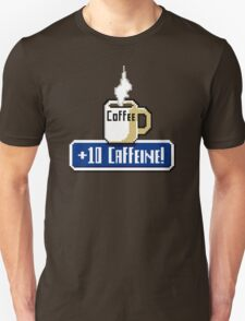 Large Coffee Power Up Unisex T-Shirt