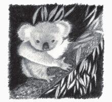 Koala at Night Pencil Sketch Kids Clothes