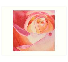 Heart of a Rose 3 Art Print