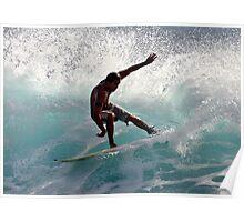 Surfer Slash Hawaii Poster
