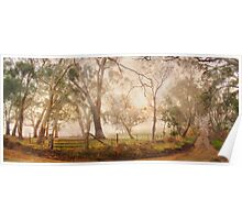 Mist in the Bush - Monkhouse Road, Nairne, The Adelaide Hills, SA Poster
