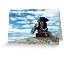 But why is the rum gone? Greeting Card