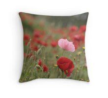 Poppies field Throw Pillow