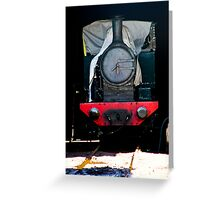 Thomas likes sleeping in. Look out for the fat controller Greeting Card