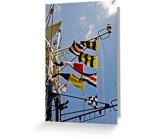Signals HMS Belfast Greeting Card