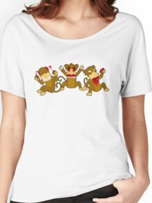 3 Wise Monkeys Women's Relaxed Fit T-Shirt