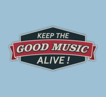 Keep The Good Music Alive  Vintage One Piece - Short Sleeve
