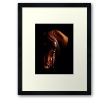 The eye of the horse (colored pencil drawing) Framed Print