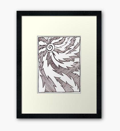 Solar Design in Pen and Ink Framed Print
