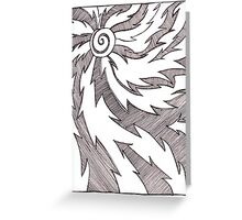 Solar Design in Pen and Ink Greeting Card