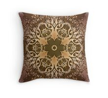 3d lacy pattern Throw Pillow